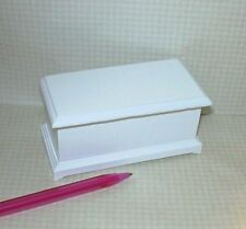 Miniature Classic Large White Toy Box: DOLLHOUSE Miniatures 1/12 Scale