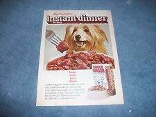 "1970 Purina Chuck Wagon Vintage Dog Food Ad ""Instant Dinner for Dogs"""