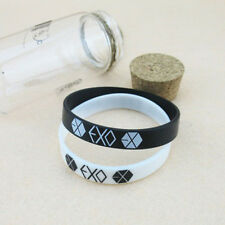 2PCS Pop  EXO Team Logo Silicone Neon Wristband Bracelet FROM EXO PLANET KPOP