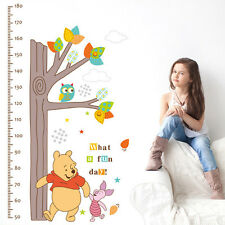 Winnie The Pooh Removable Wall Sticker Height Chart Vinyl Decal Kids Room Decor