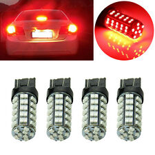 4x Pure Red 7443 Car TAIL BRAKE STOP LED LIGHT BULB 3528 68-SMD Lamp 7444NA 12V