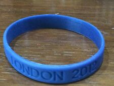 NEW BLUE LONDON 2012 RUBBER SILICONE WRIST BAND OLYMPIC TEAM UK GB