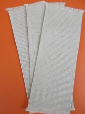 Lot of 3 Blank Cross Stitch Bookmarks - Oatmeal 14 Count Aida by Charles Craft