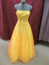 Alfred Angelo Size 6 Yellow Beaded Formal Evening Prom Bridesmaid Dress O-1-1