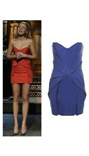 NWOT Blake Lively Topshop Strapless Structured Unique Origami Dress Blue