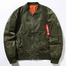 Men's Casual Air Jacket Zipper MA1 Army Flight Bomber Jacket Coat Outwear