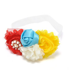 Infant Kids Girl Baby Headband Toddler Bow Flower Hair Band Accessories Headwear