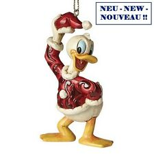 "DISNEY Christmas-hanging Ornament - ""Donald"" - Jim Shore Figura a27085-Nuovo!!!"
