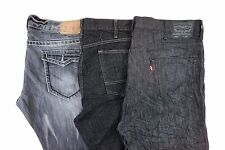 Levi's Lot of 3 Men's Black/Gray Straight Leg Denim Jeans/Shorts 42 x 32 BE10652