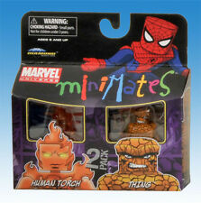 2010 MARVEL MINIMATES TOYS R US WAVE 8 HUMAN TORCH & THING ACTION FIGURES MIP