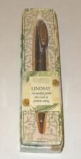 LINDSAY History & Heraldry Signature Name Pen Stationary Boxed Gift Monogram