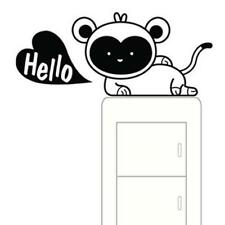 Kids Light Switch Sticker Decal - Monkey Hello Heart Decor Room Wall Window Art