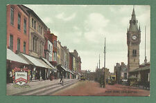 EARLY 1900'S PC HIGH ROW DARLINGTON - CLOCK TOWER, SHOPS
