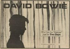 27/8/83PN30 ADVERT: DAVID BOWIE HEROES - DETAILS TO FOLLOW 7X11