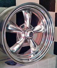 "20""  AMERICAN RACING POLISHED TORQ THUST II SUIT FORD, HQ, CHEV AND USA CARS"