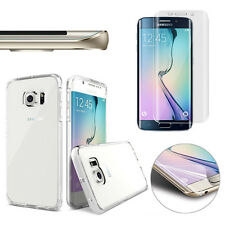 Full Cover HD Screen Protector &Curved Clear TPU Case for Samsung Galaxy S7 Edge