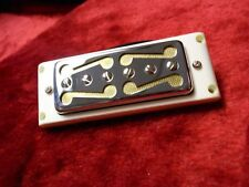 GOLD FOIL MOUSTACHE PICKUP FOR TEISCO HARMONY KAY SILVERTONE DEARMOND BRIDGE  PS