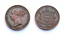 1/26 Shilling 1851 States of Jersey. Victoria. Cuivre/ Copper