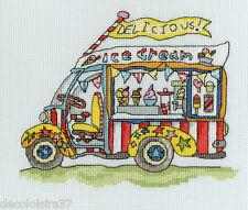 Bothy Threads  XSD3  Sew Dinky  Ice Cream Van  Broderie  point de croix  compté