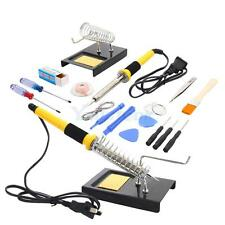 18in1 110V 60W SMD Electric Rework Soldering Iron Kit w/ Stand Desoldering Pump