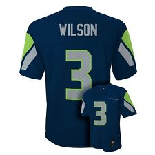 (2015-2016) Seattle Seahawks RUSSELL WILSON nfl Jersey YOUTH KIDS BOYS (L-LARGE)