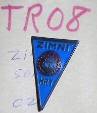 TR08 triangular Sokol pin,  ZIMNI  HRY