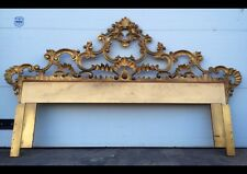 Hollywood Regency Style Ornate Gold Gilt King Size Headboard