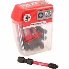 Milwaukee 4932430866 Shockwave impacto deber atornillado bits PZ2 50mm Paquete de 10