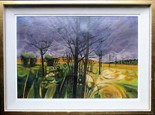GARRICK PALMER b 1933 MODERN BRITISH ART OIL PAINTING LANDSCAPE ABSTRACT EVENING