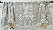 COUNTRY HOUSE TOILE BY WAVERLY -WINDOW VALANCE / SCALLOPED TRIMMED VALANCE