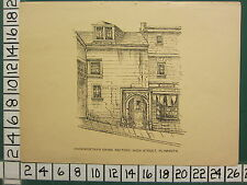 c1840 ANTIQUE PRINT ~ COOKWORTHY'S CHINA FACTORY HIGH STREET PLYMOUTH