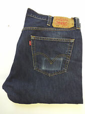 LEVI'S 501 JEANS HIGH WAISTED STRAIGHT LEG W42 L30 STRAUSS DARK BLUE LEVG464