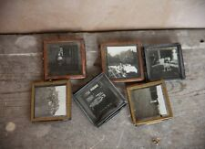 2 x Tiny Nkuku Zinc Grey Picture Photo Frames - Mini Danta Small Glass