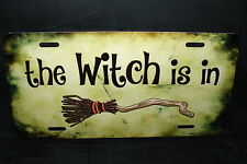 THE WITCH METAL NOVELTY LICENSE PLATE TAG FOR CARS