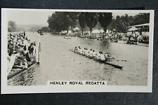 Henley Regatta London RC v  Harvard University   1930's Action Photo Card  VGC