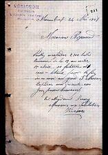 """VIJON (36) COUVERTURE / TOITURE """"VERICHON Couvreur"""" en 1908"""