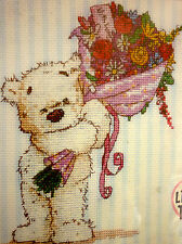 DMC counted cross stitch kit Lickle Ted bear Affection impressions 14ct aida