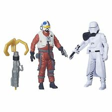 Star Wars The Force Awakens Snap Wexley and First Order Snowtrooper Officer F...