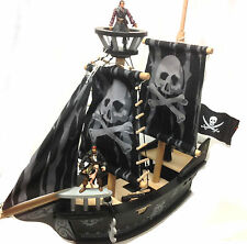 Disney pirates of the caribean toy figures avec d'énormes woooden bateau pirate playset