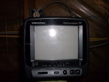 MEMOREX PORTAVISION 16-125 TELEVISION COLOR TV/MONITOR 2-13CH DC12V W/ CASE(MM1)