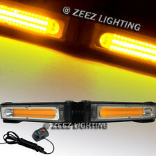 COB LED 20W Yellow Emergency Hazard Strobe Beacon Caution Warning Light Bar C04