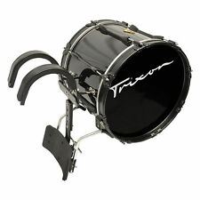"Trixon Field Series Pro Marching Bass Drum 18 by 14"" Black Polish"