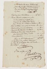 Pigault-Lebrun. Mémoire des Déboursés pour la Sté Philotechnique. 1798.
