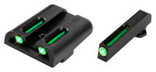 TruGlo TFO Tritium/Fiber-Optic Sights - Glock Low - TG131GT1- Green/Green