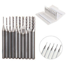 New 10Pcs 1/8'' 0.8-3.175mm Drill Bits Engraving Cutter Rotary PCB CNC End Mill