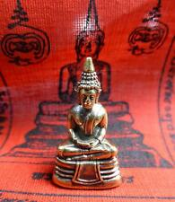 BLESSED WAT SOTHORN BRONZE KRING BUDDHA STATUE + Temple WISHING Cloth PHA YANT
