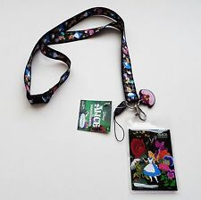Alice in Wonderland - Alice Mad Hatter Cheshire Cat Lanyard with Dangler 25304