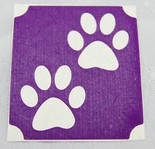 GT103 Body Art Temporary Glitter Tattoo Stencil Cat Paws Paw Prints