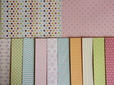 "12 sheets 8x8"" scrapbook Backing Papers Dovecraft Back to Basics Bright Spark"