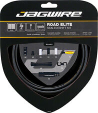 JAGWIRE ROAD ELITE SEALED BLACK ROAD BICYCLE SHIFT DERAILLIEUR CABLE KIT